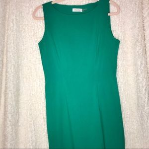 Bright Green Calvin Klein Dress
